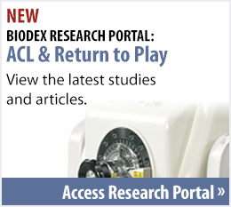 New Biodex Research Portal for ACL and RTP
