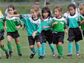 The new youth sports concussion bill would apply to children who play in recreational leagues, like local soccer clubs. In this photo, Harpeth Youth Soccer Association 7 and under girls play during opening day i Bellvue in 2009. Photo File:The Tennesean