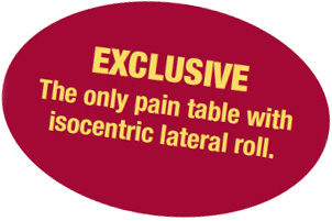 The only pain table with isocentric roll