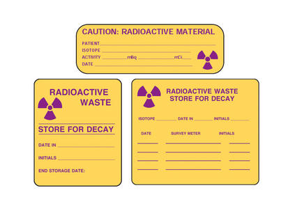 Radioactive Warning Labels