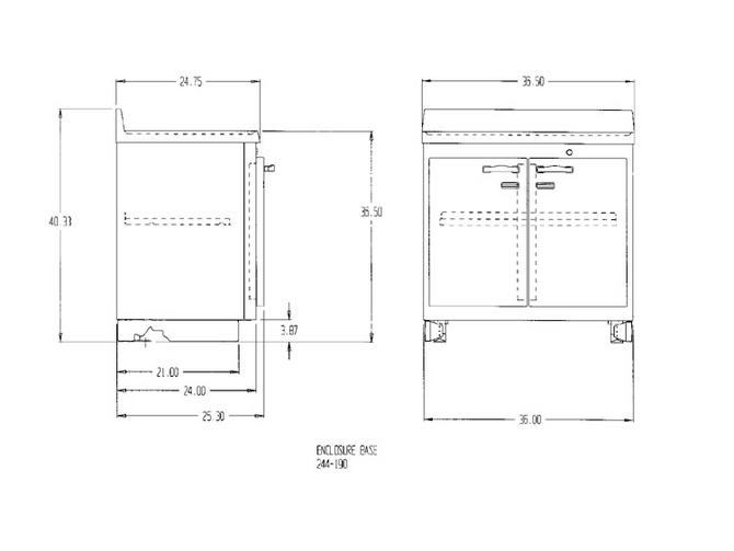 Lead-Lined Preparation Enclosure Base Cabinet - Lead-lined ...