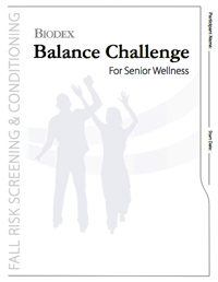 Biodex offers six-week Balance Channlenge to help attract older adults to a fall risk program