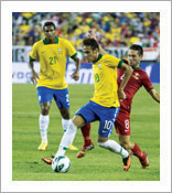 Brazil shoots for sixth world cup football championship. Will Biodex get an assist?