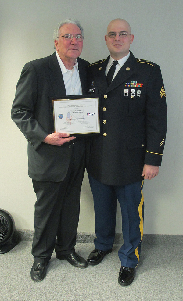 Biodex is recognized by ESGR for their outstanding support of the Guard and Reserve